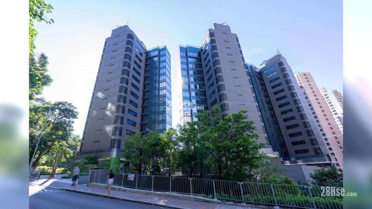 大學閣 主題大廈: University Heights 大學閣由華懋發展,位於西半山旭龢道42號,設有1座,提供75伙,實用面積由1,515至3,237平方呎,間隔為3房連雙套房及多用途房、3房連3套房及多用途房、4房連雙套房及多用途房、4房連3套房及多用途房、4房連4套房及多用途套房加多用途房。
