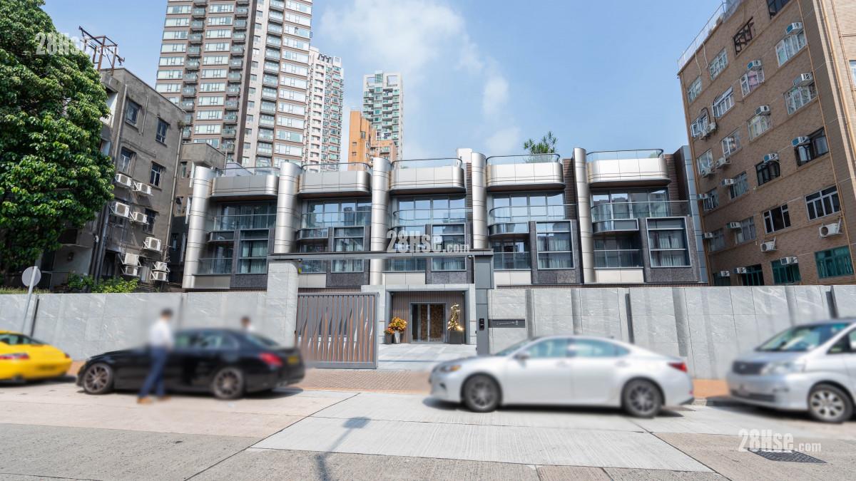 嘉琳 主題大廈: 嘉琳由嘉華發展,位於九龍城嘉林邊道2號,提供5伙,洋房面積由4,171至4,578平方呎,間隔為5房連5套房及工人套房。